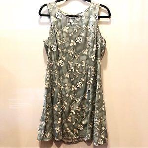 REFORMATION VINTAGE Floral Green Dress w tag S-M